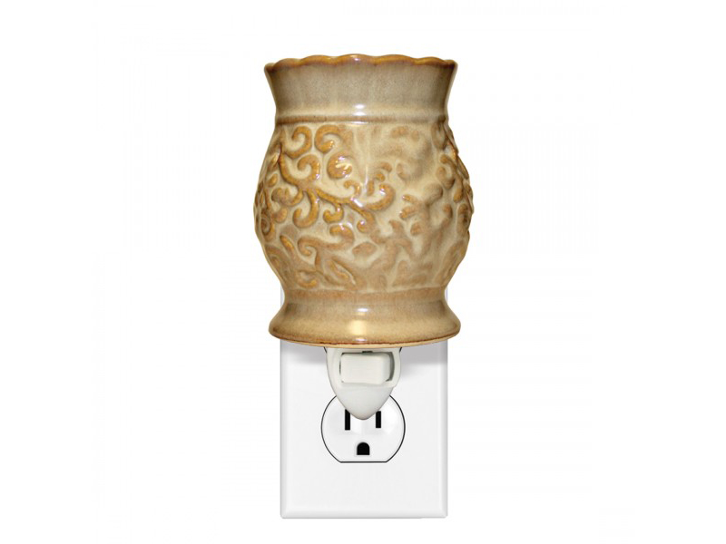 Tapestry Cream Ceramic Warmer