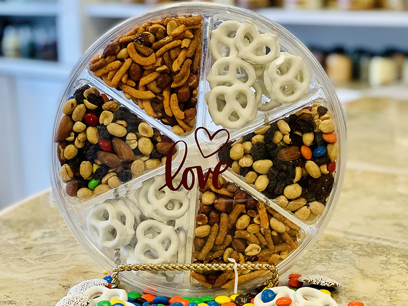 Valentine's Day Sweet and Salty Snack Wheel